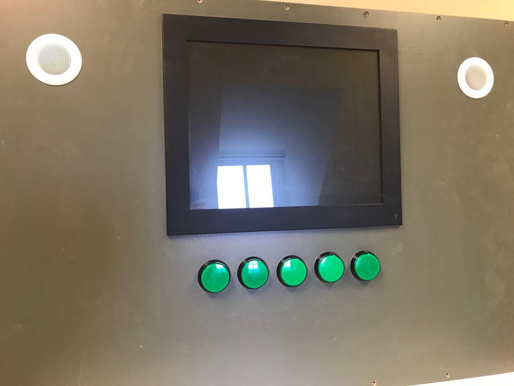Verhalenkabinet met 5 buttons